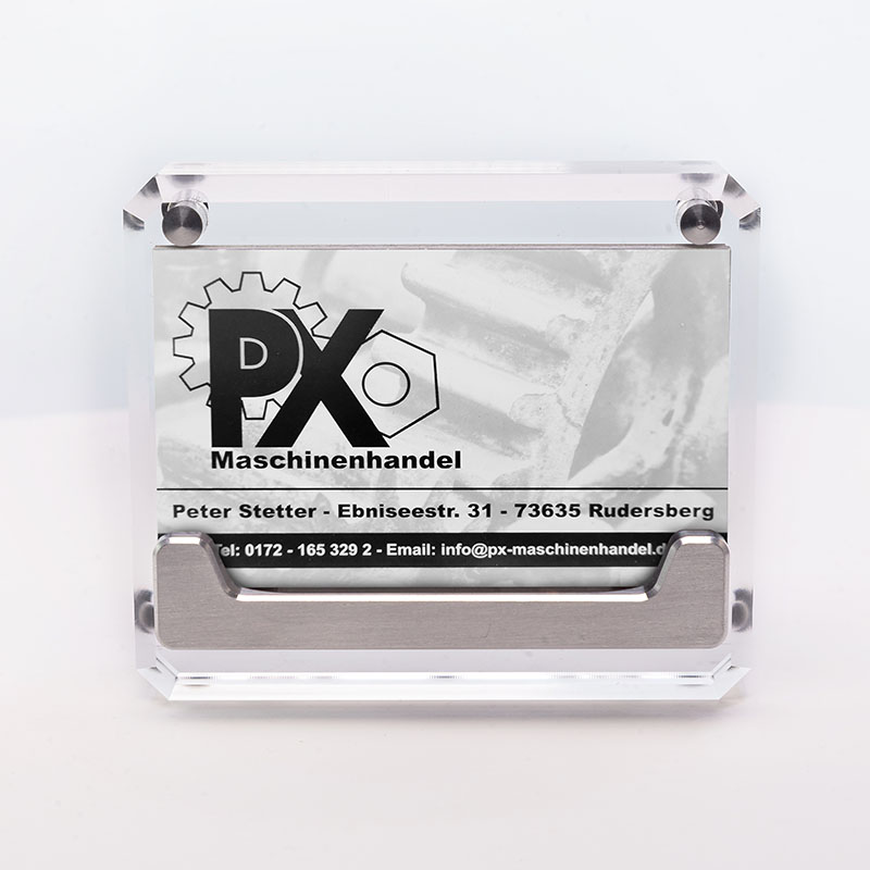 Wieler V Card Halter PX Maschinenhandel Silber